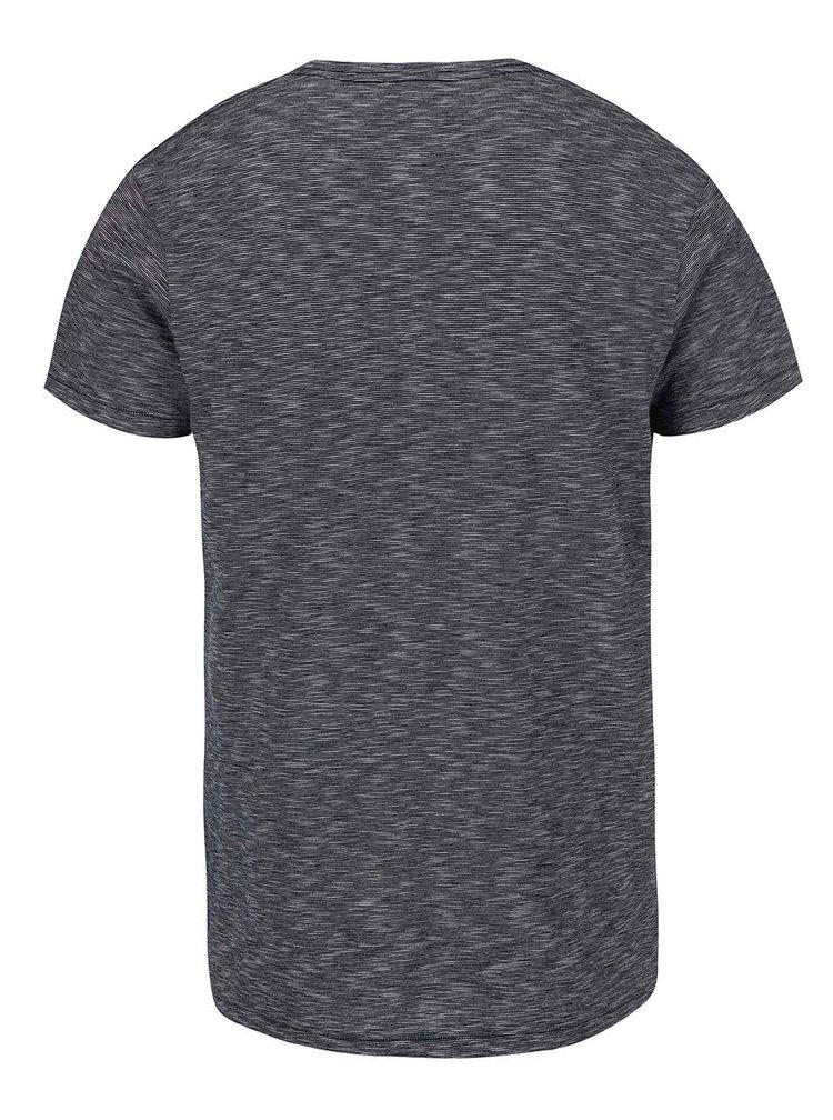 Tmavomodré pánske pruhované tričko Ragwear Mother Stripes