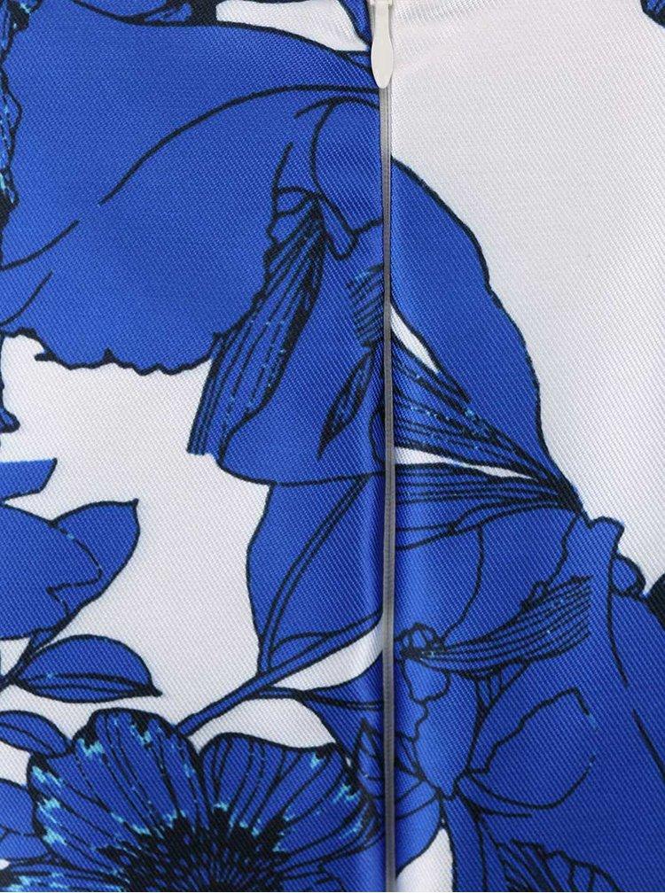 Bielo-modré kvetované šaty AX Paris