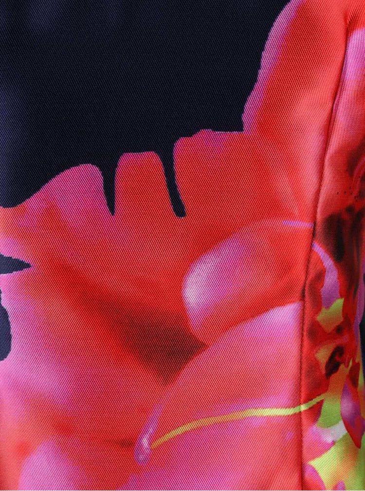Červeno-modré šaty s potlačou kvetín AX Paris