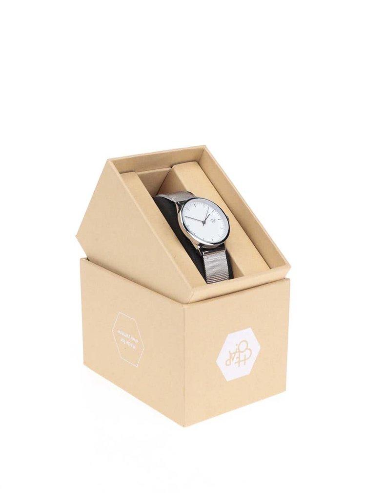 Dámské hodinky ve stříbrné barvě CHPO Nando Mini Silver