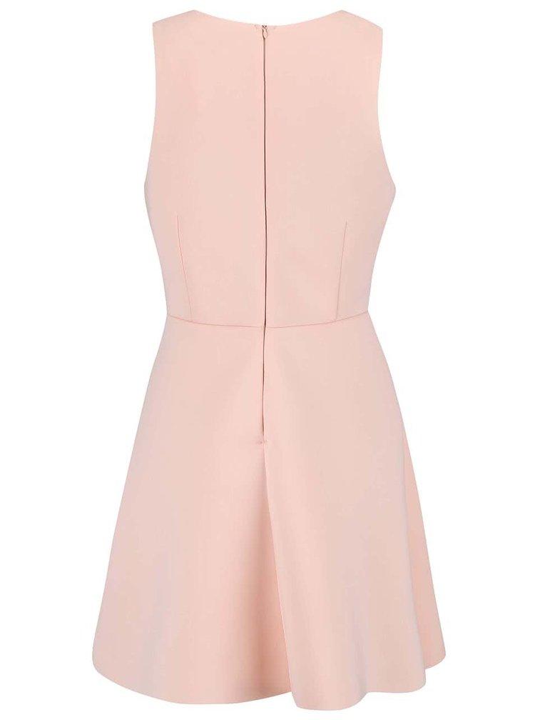 Růžové šaty bez rukávů AX Paris
