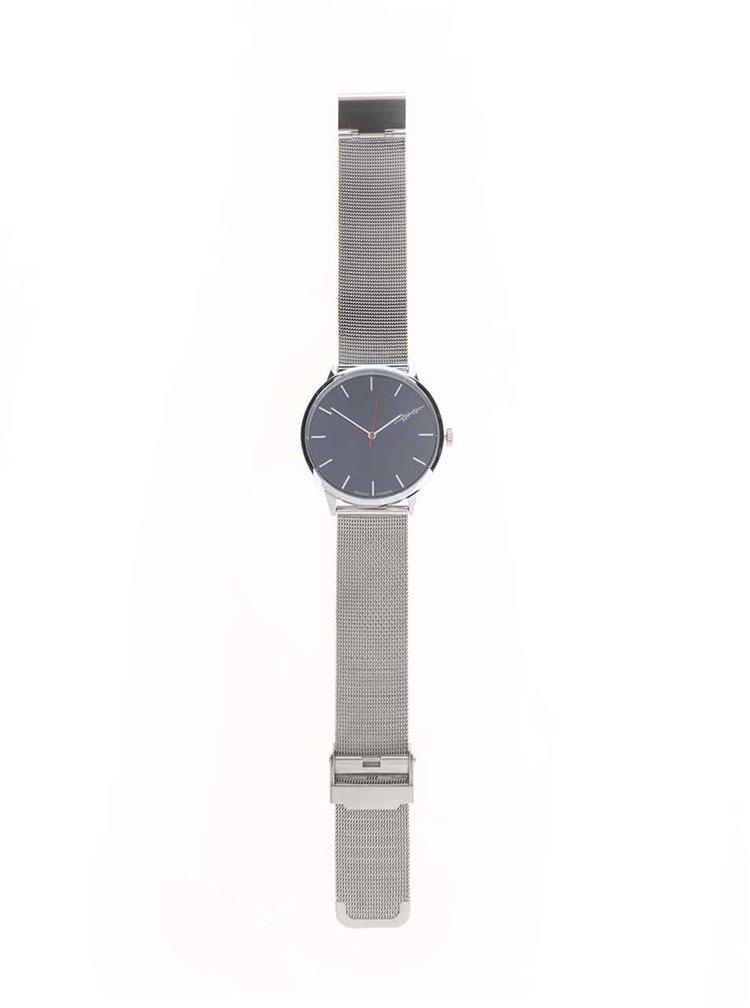 Ceas unisex argintiu Cheapo Legacy cu brăţară metalică