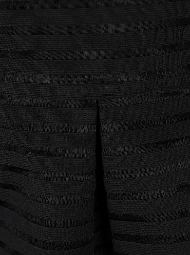 Rochie în dungi AX Paris neagră