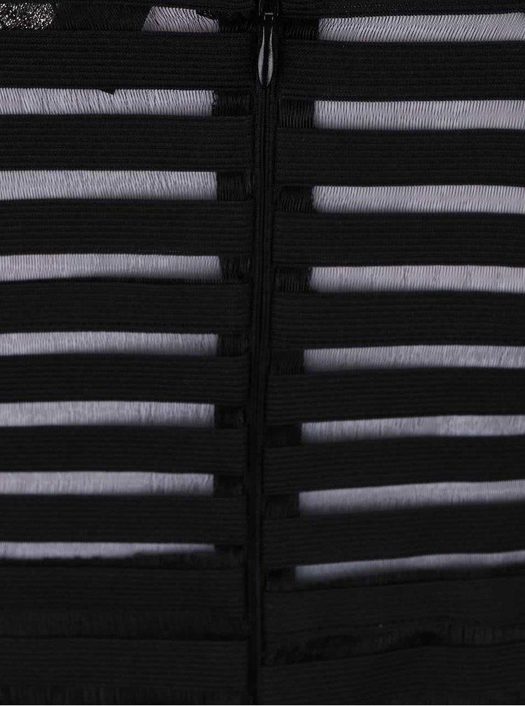 Černé pruhované šaty AX Paris