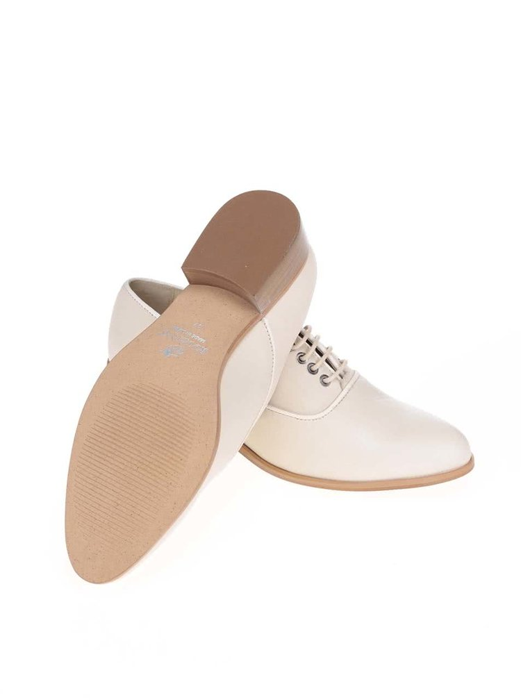 Pantofi bej OJJU  din piele