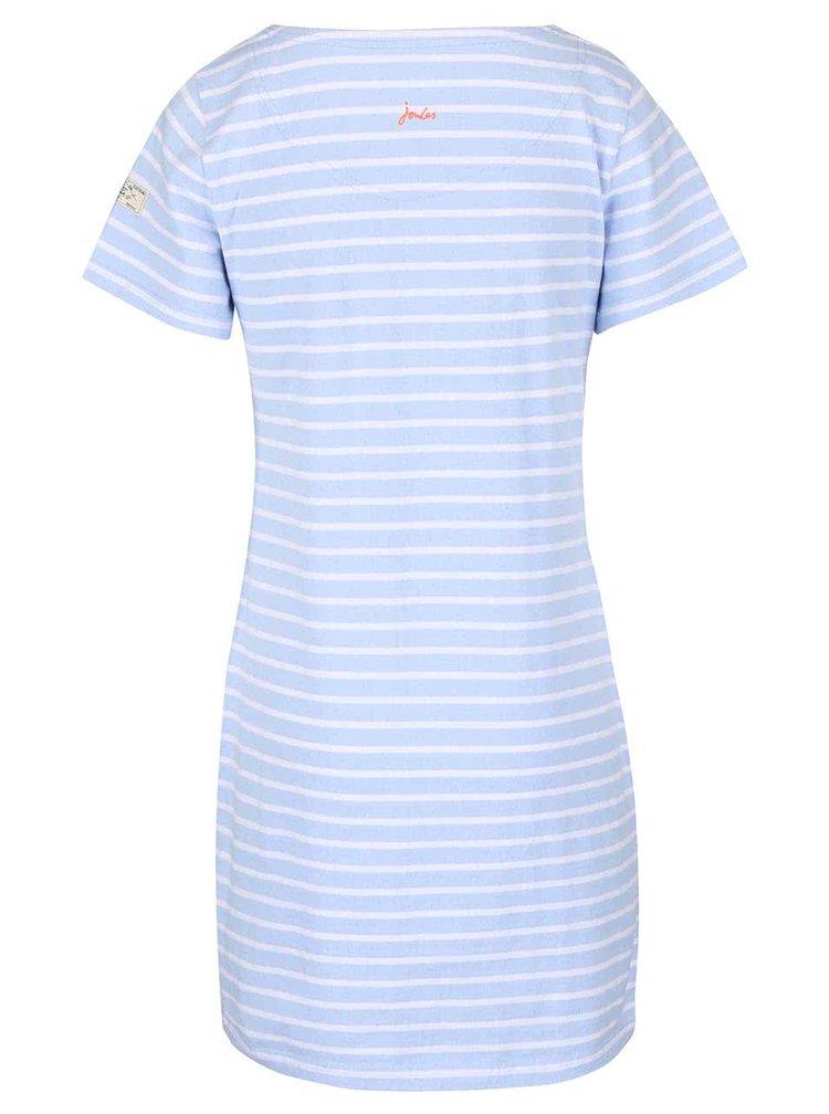 Světle modré proužkované dámské šaty Tom Joule Riviera