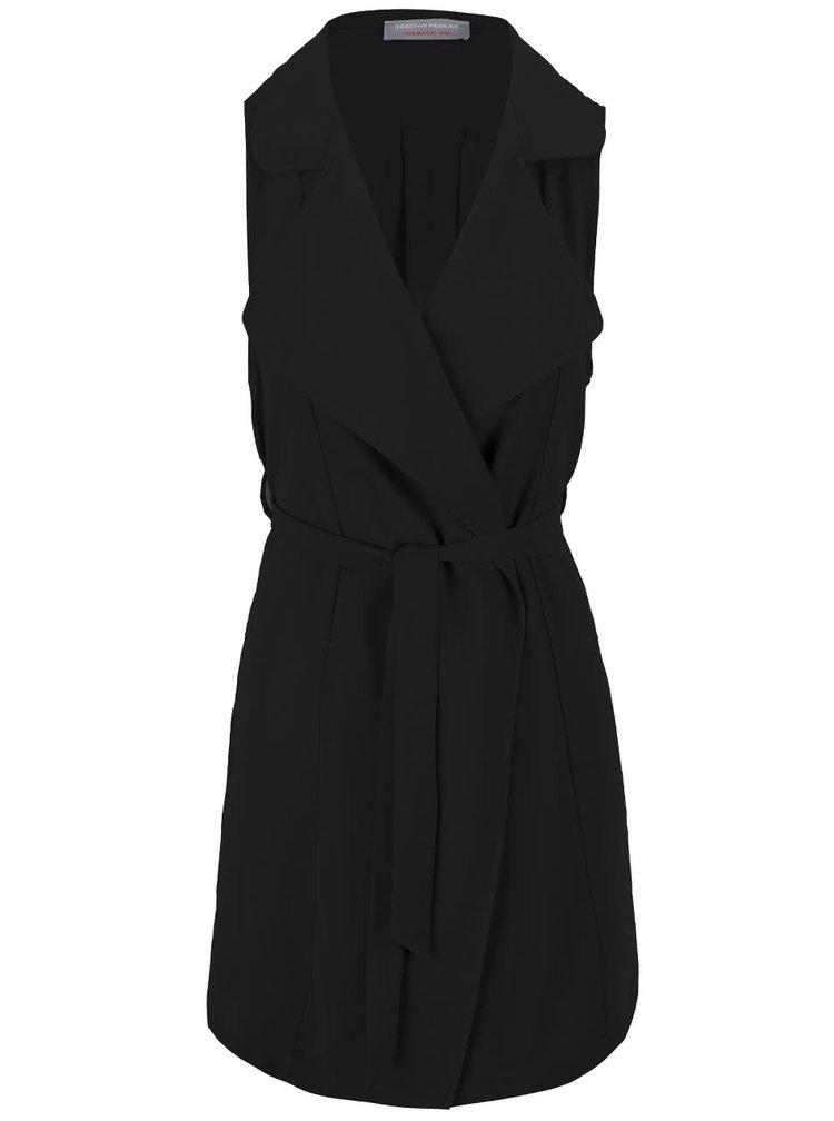 Blazer Dorothy Perkins Petite, de culoare neagră, fără mâneci