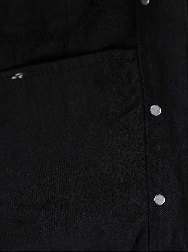 Černá džínová bunda Dorothy Perkins Petite