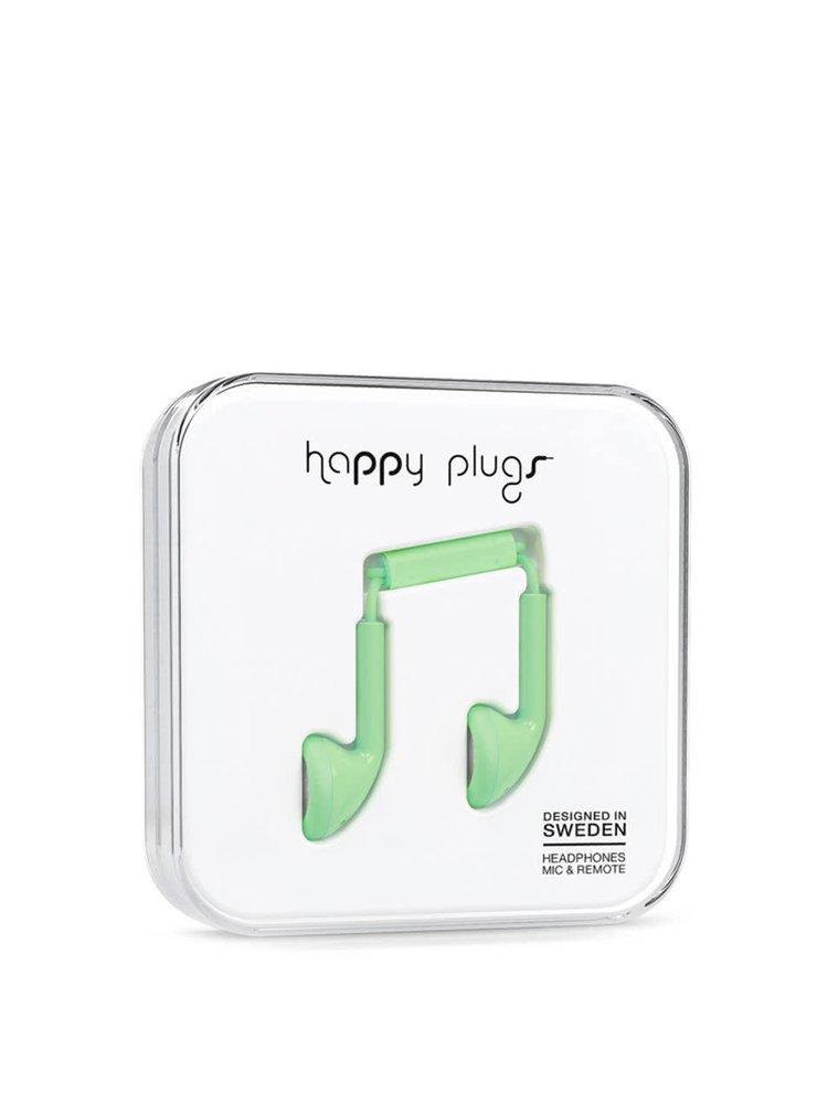 Světle zelená Earbud sluchátka Happy Plugs