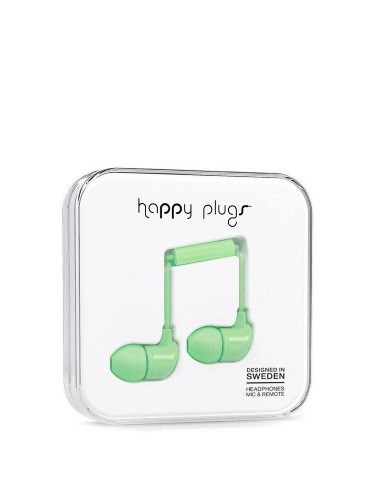 Zelená In-Ear sluchátka Happy Plugs