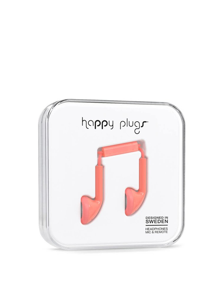 Svetloružové Earbud slúchadlá Happy Plugs