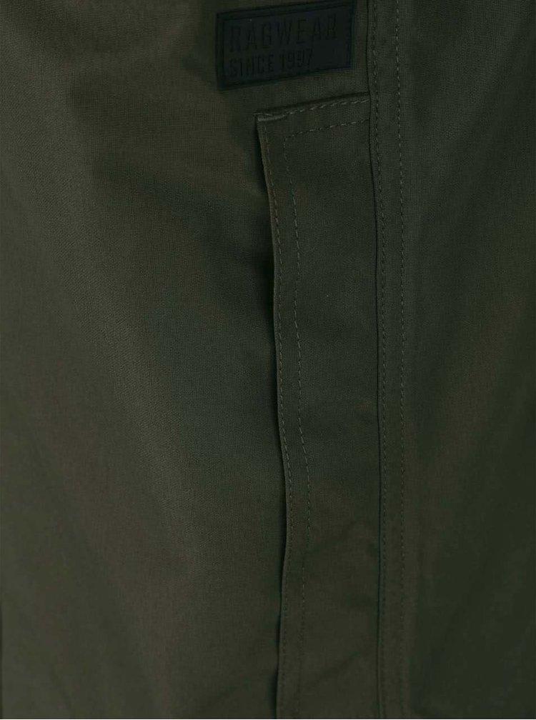 Kaki pánska funkčná bunda s kapucňou Ragwear Appa Sport