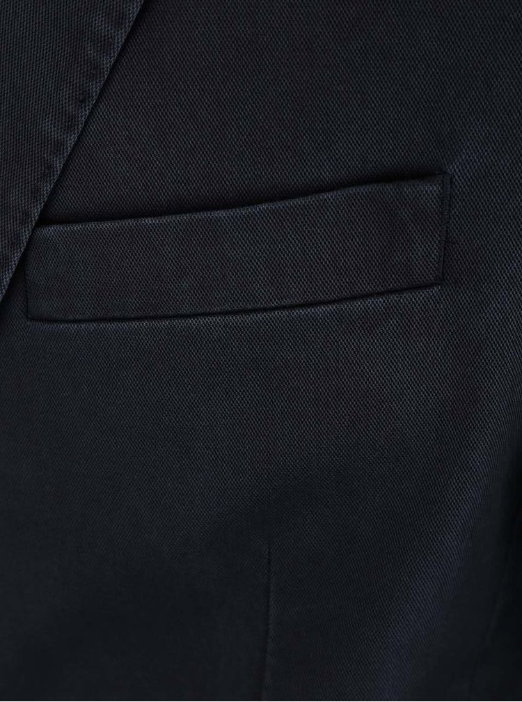 Tmavomodrý blejzer s detailmi Fync-Hatton