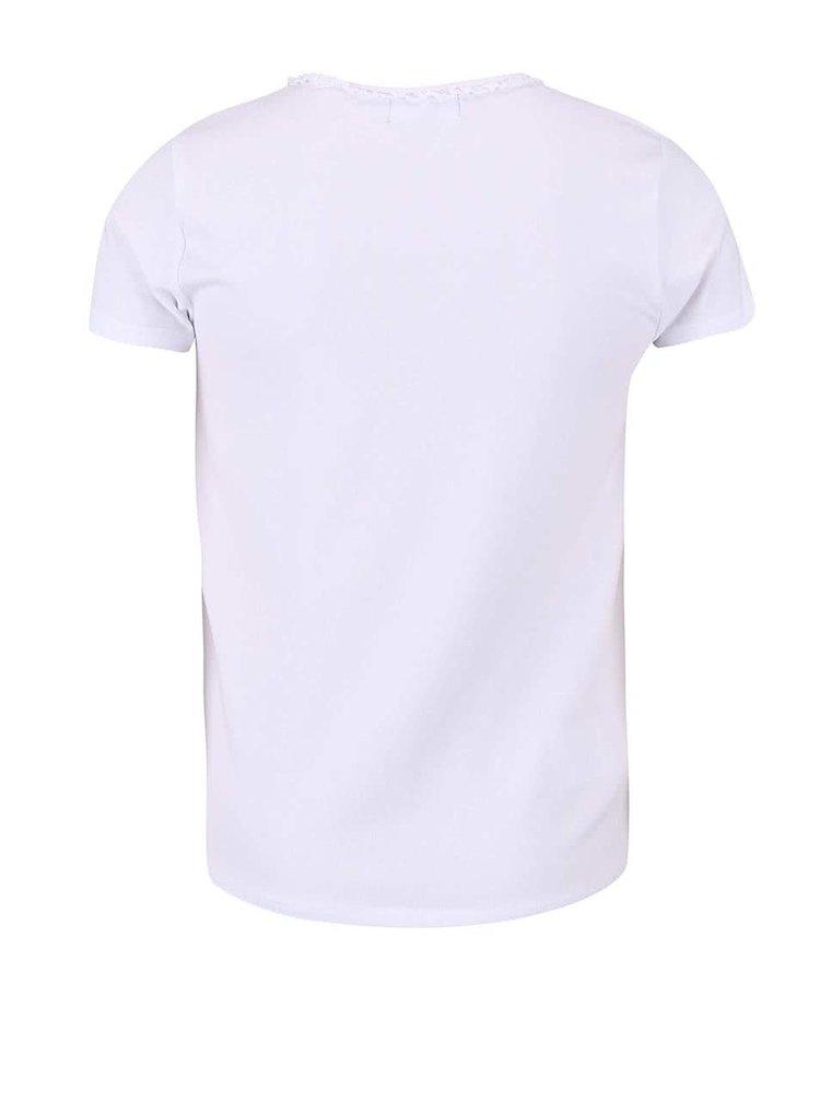 Tricou BÓBOLI alb pentru fete