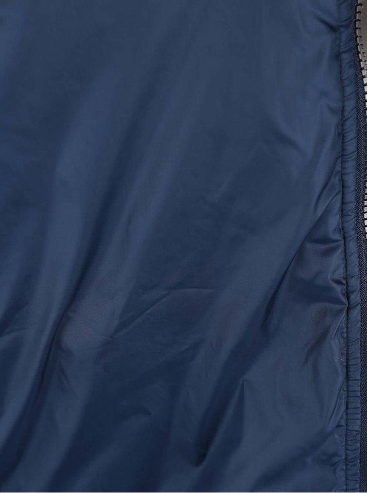 Tmavomodrá prešívaná bunda Fynch-Hatton
