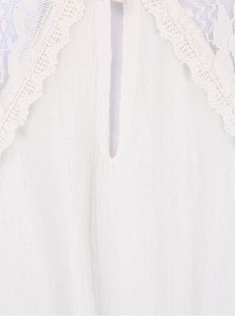 Krémové šaty s šifónovou sukní VERO MODA Freja