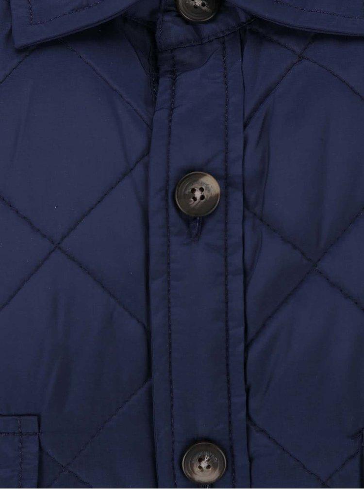 Tmavě modrá prošívaná bunda s knoflíky Fynch-Hatton