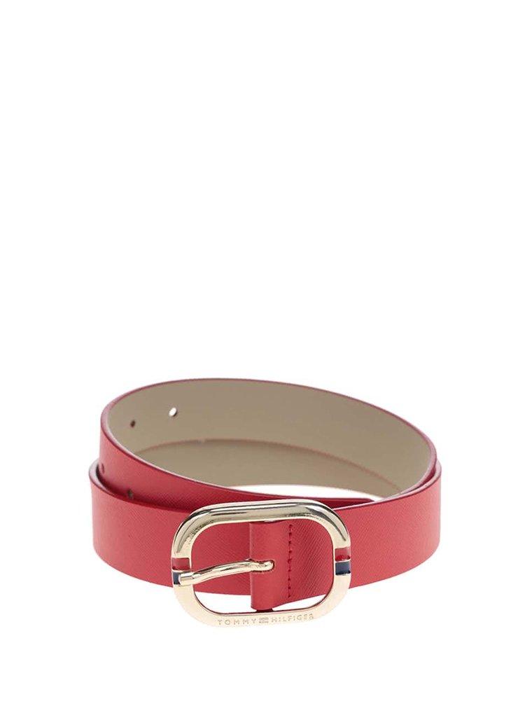 Červený dámsky kožený opasok Tommy Hilfiger Honey