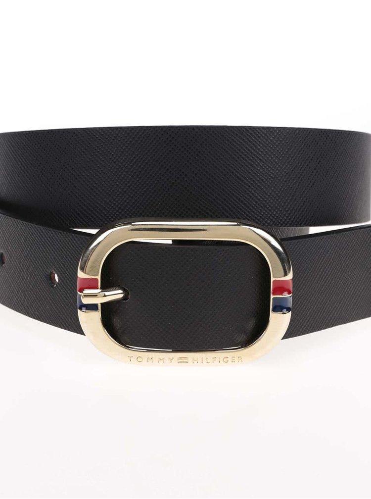 Černý dámský kožený pásek Tommy Hilfiger Honey