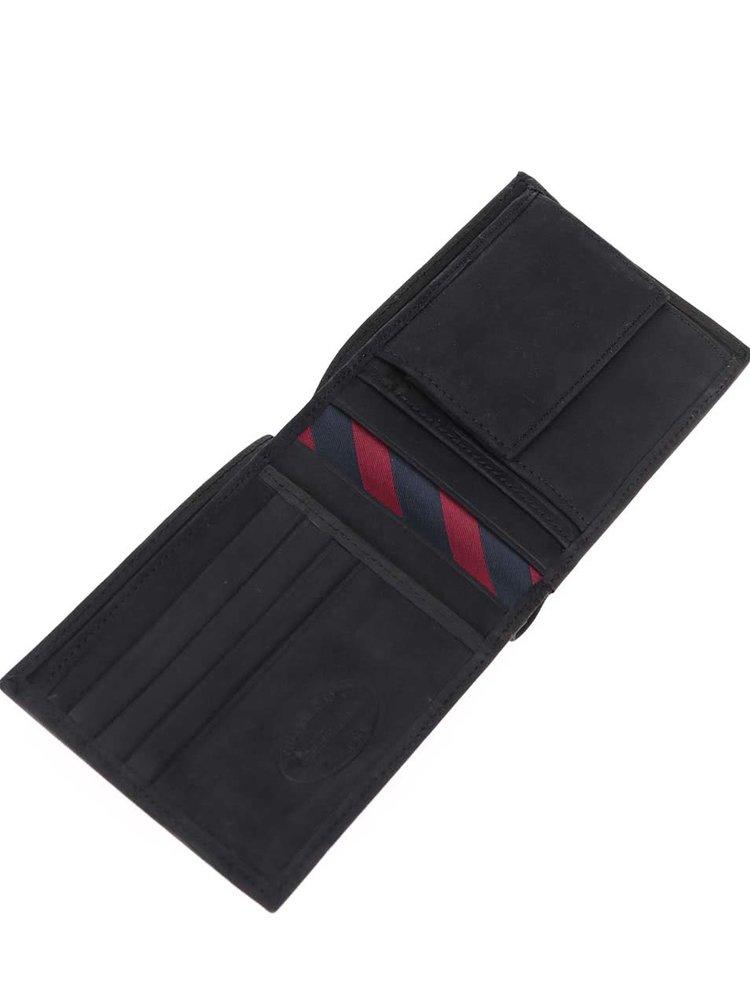 Černá větší pánská kožená peněženka s kapsou na drobné Tommy Hilfiger Johnson