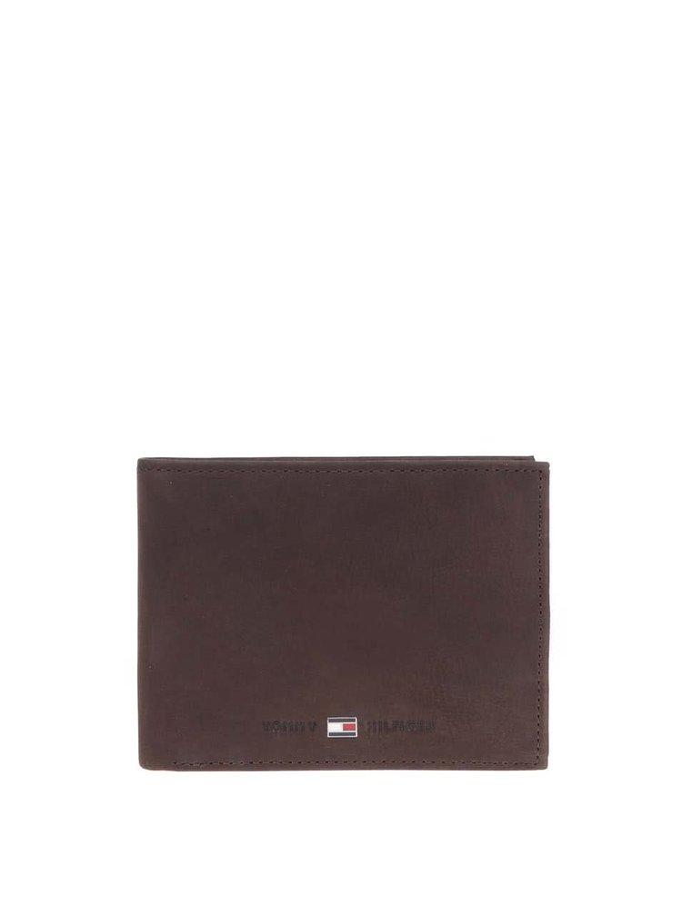 Hnedá väčšia pánska kožená peňaženka s vreckom na drobné Tommy Hilfiger Johnson