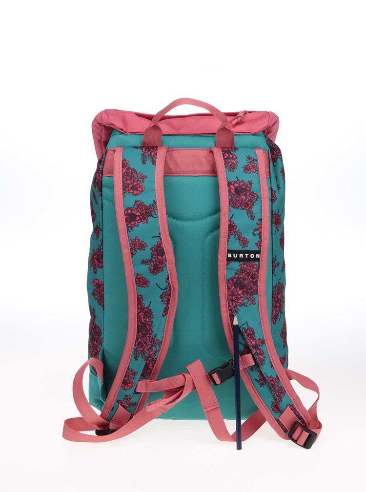 Růžovo-tyrkysový batoh s květinami  Burton Youth Tinder