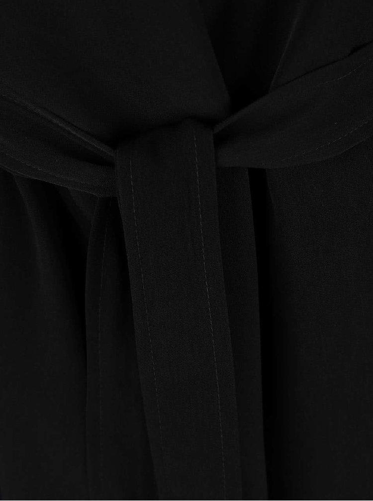Černý krátký trenčkot VILA Flow