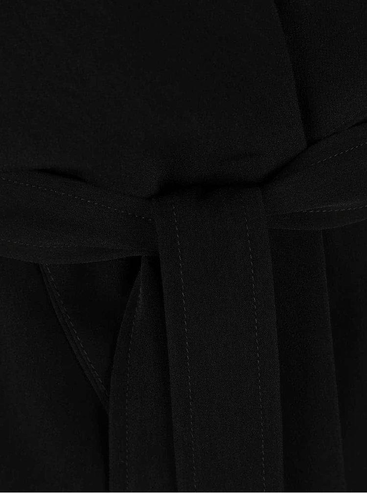 Černý dlouhý trenčkot VILA Flow