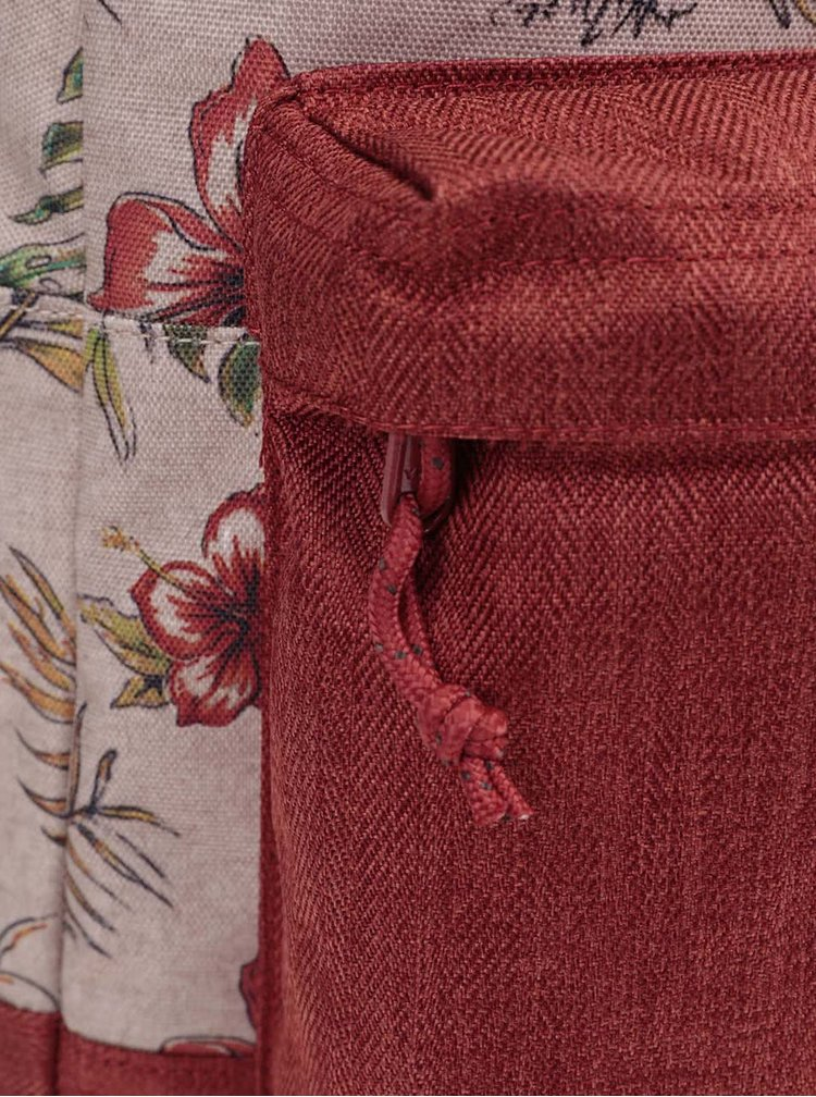 Ghiozdan Burton Kettle maro, cu imprimeu floral