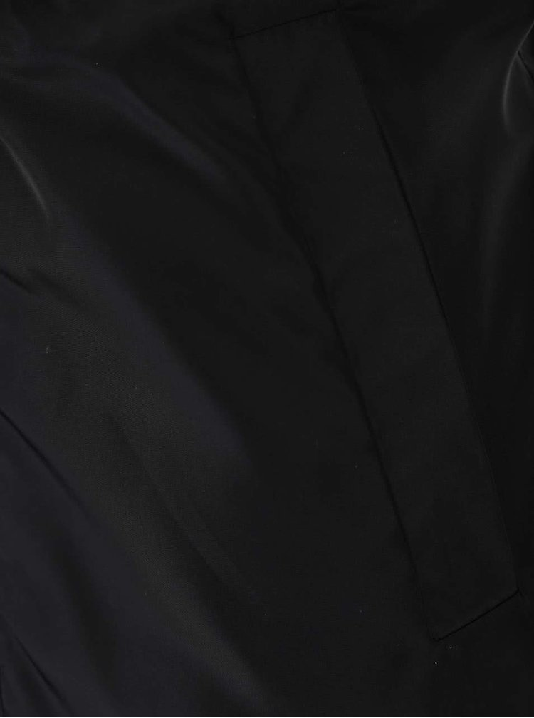 Parka VILA Draw neagră, cu glugă