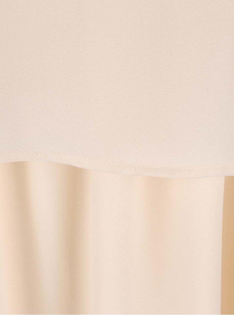 Krémové šaty na ramienka VILA Sora