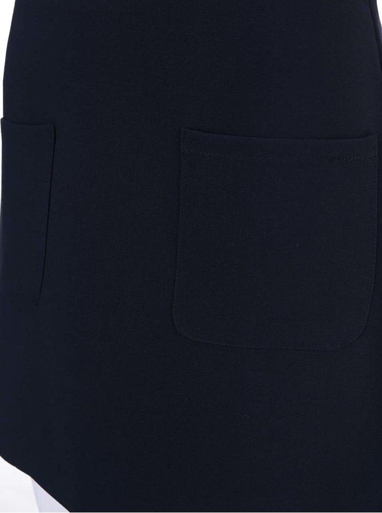 Tmavě modrá minisukně s kapsami VILA Longer