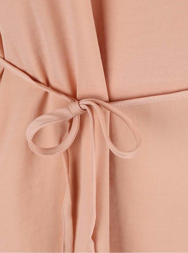 Ružové šaty so zaväzovaním VILA Pocka