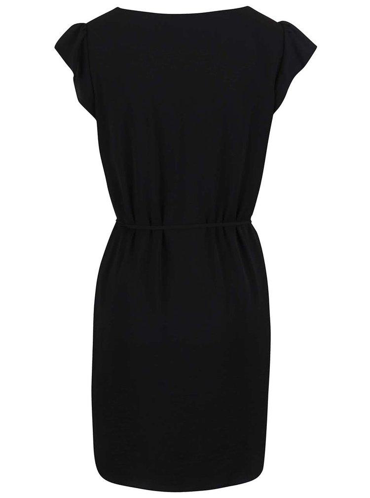 Černé šaty se zavazováním VILA Pocka