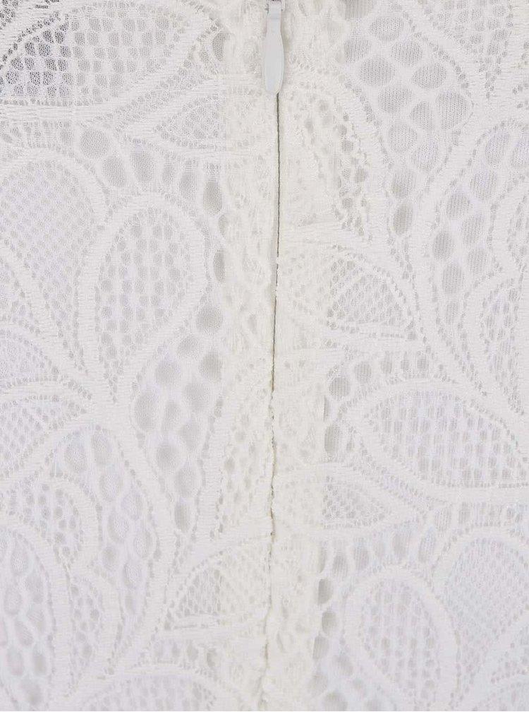 Bílé krajkované šaty VILA Mialy