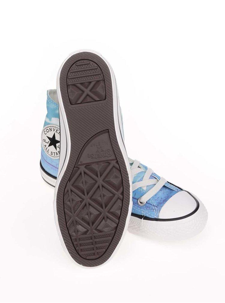 Teniși de damă Converse Chuck Taylor All Star albaștri cu print, înalți