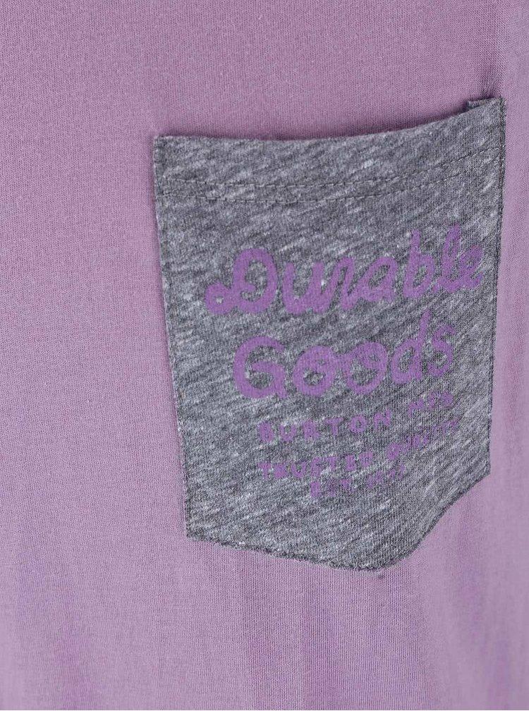 Bluză Burton Trusted Raglan. de culoare gri