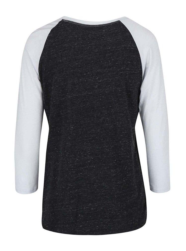 Tricou Burton Morton Raglan, de culoare gri cu negru