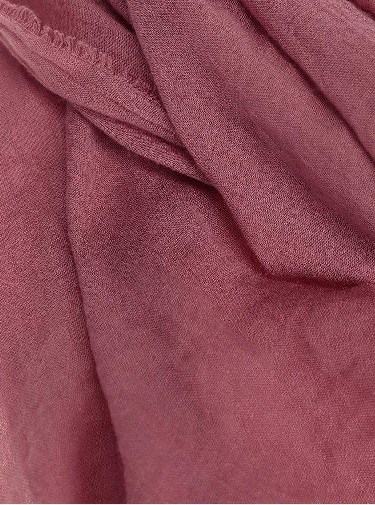 Eșarfă ONLY Fine de culoare roșie