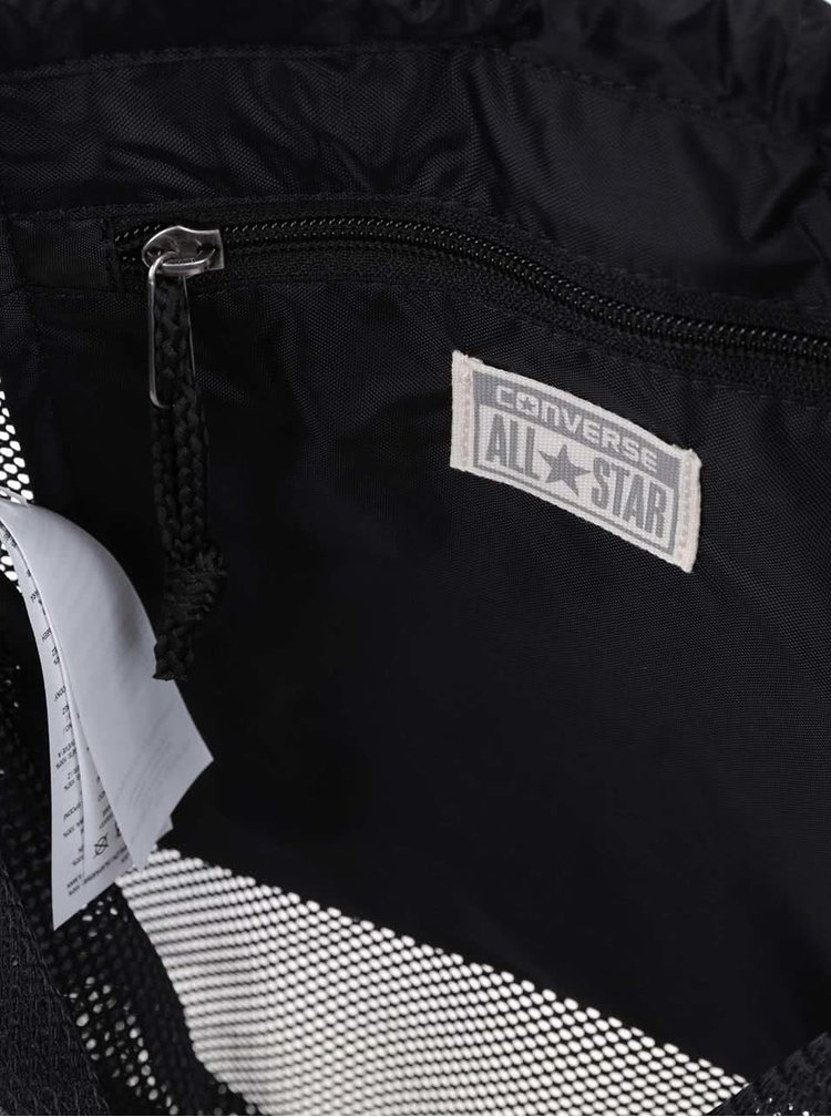 Černý vak Converse Mesh Nylon Packable Cinch