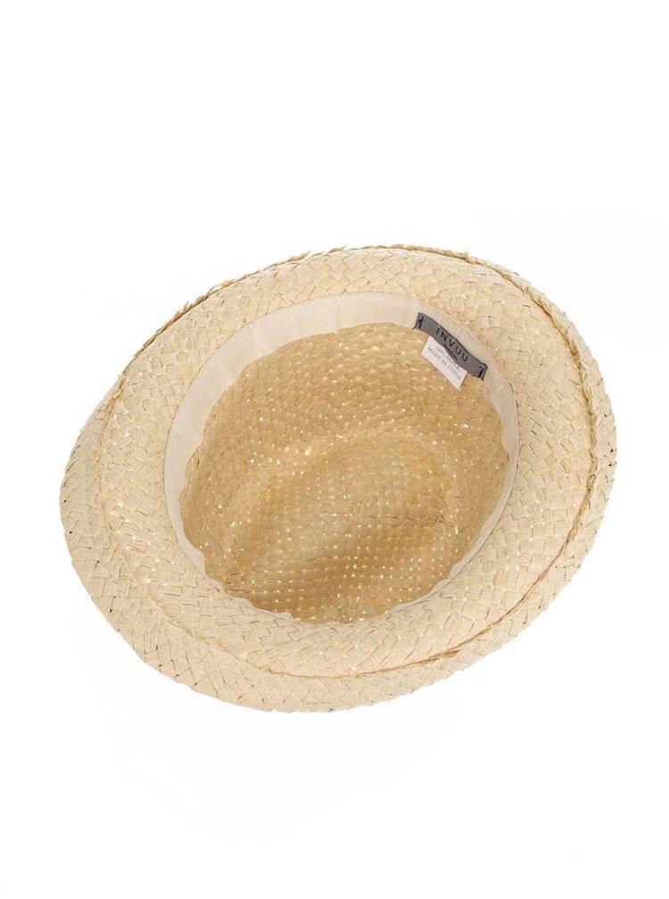 Slaměný klobouk s tyrkysovým vázáním INVUU London