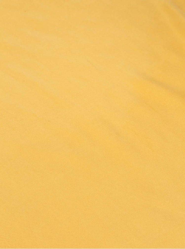 Žltá šatka so strapcami INVUU London