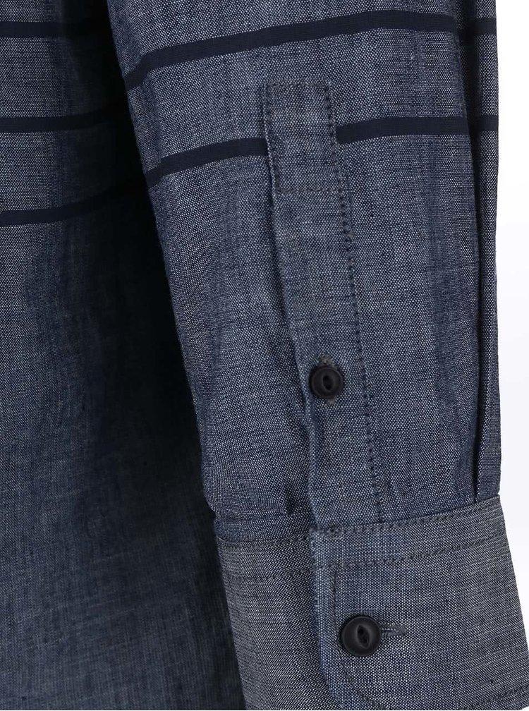 Modrá košile s dlouhým rukávem Shine Original Gibson Out