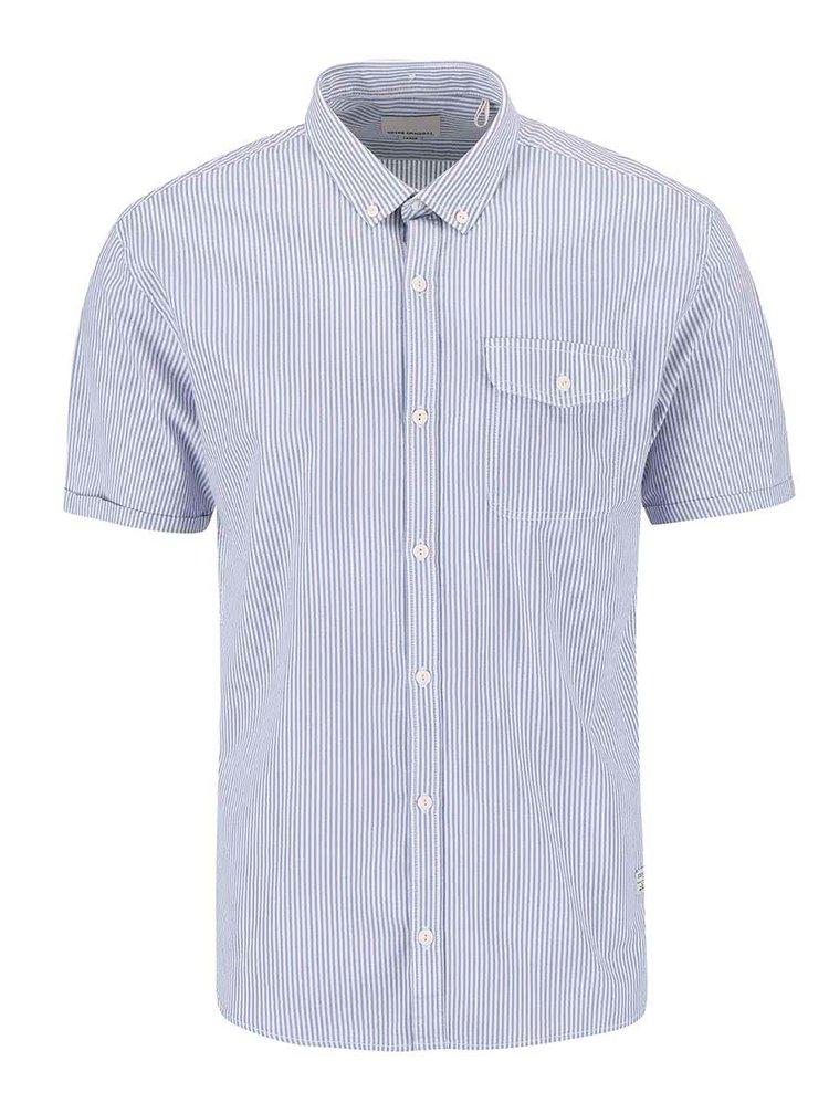 Bielo-modrá pruhovaná košeľa Shine Original Gibson Out