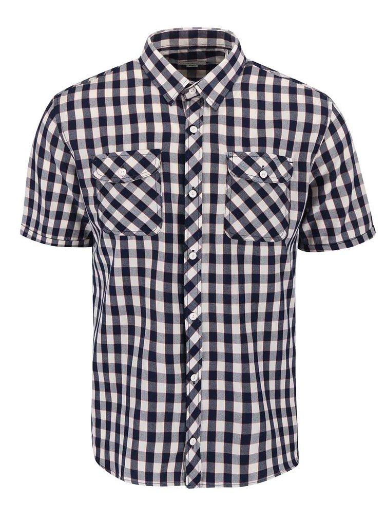 Tmavě modrá kostkovaná košile Shine Original Gibson Out