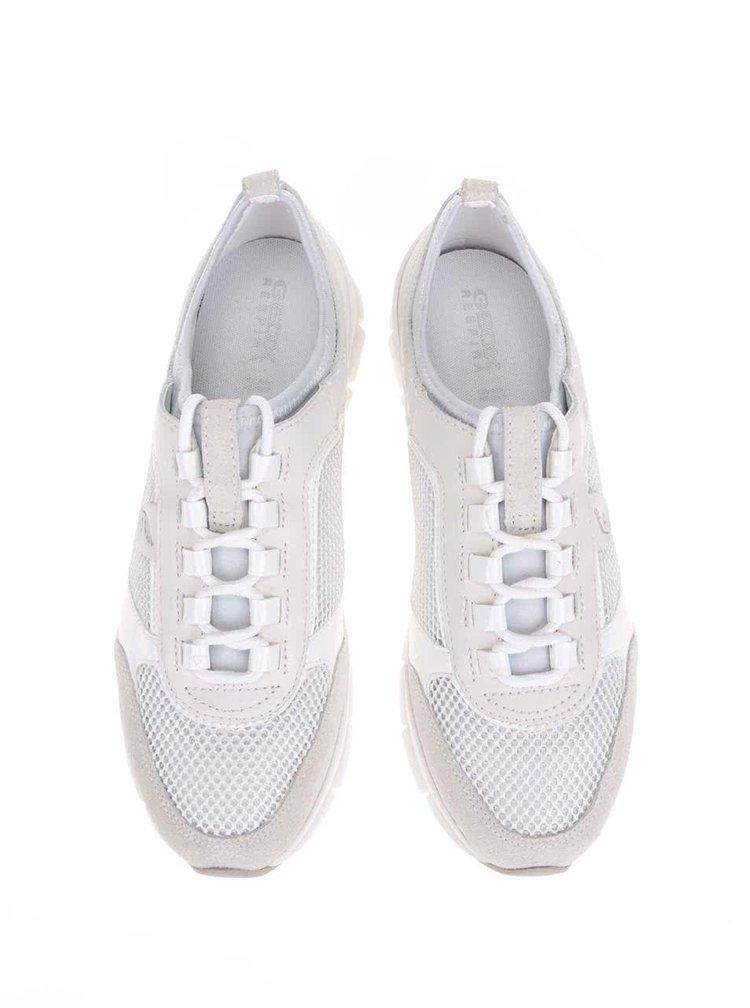 Biele dámske športové tenisky Geox Sukie