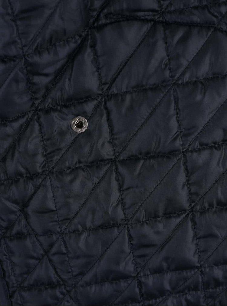 Tmavomodrá prešívaná bunda Shine Original Travis