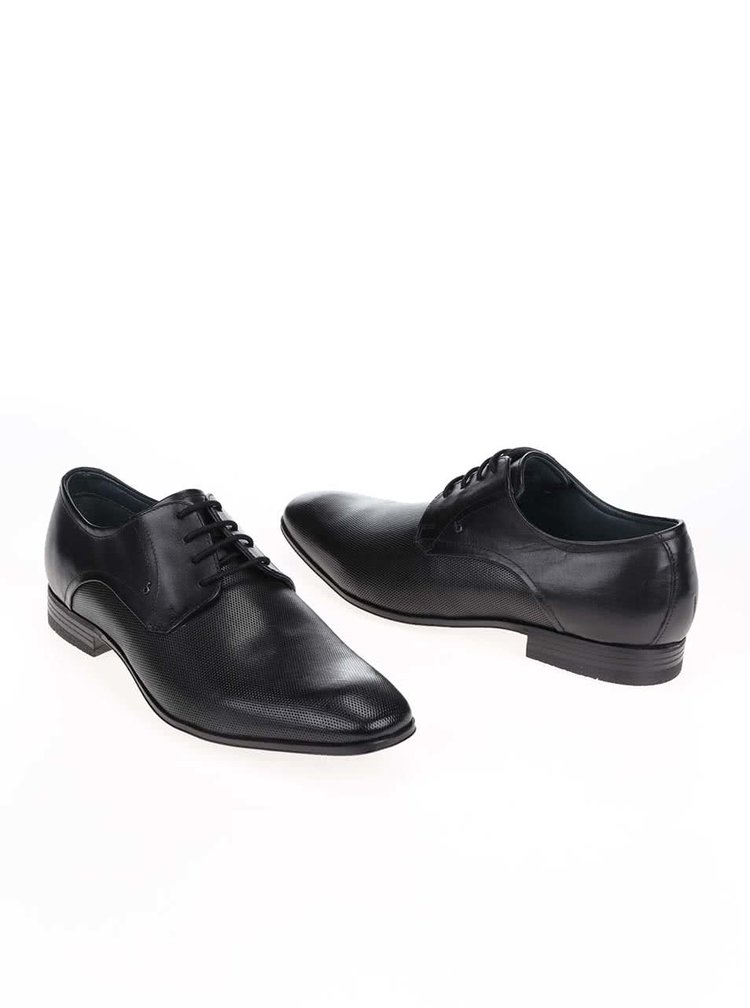 Pantofi negri bugatti din piele