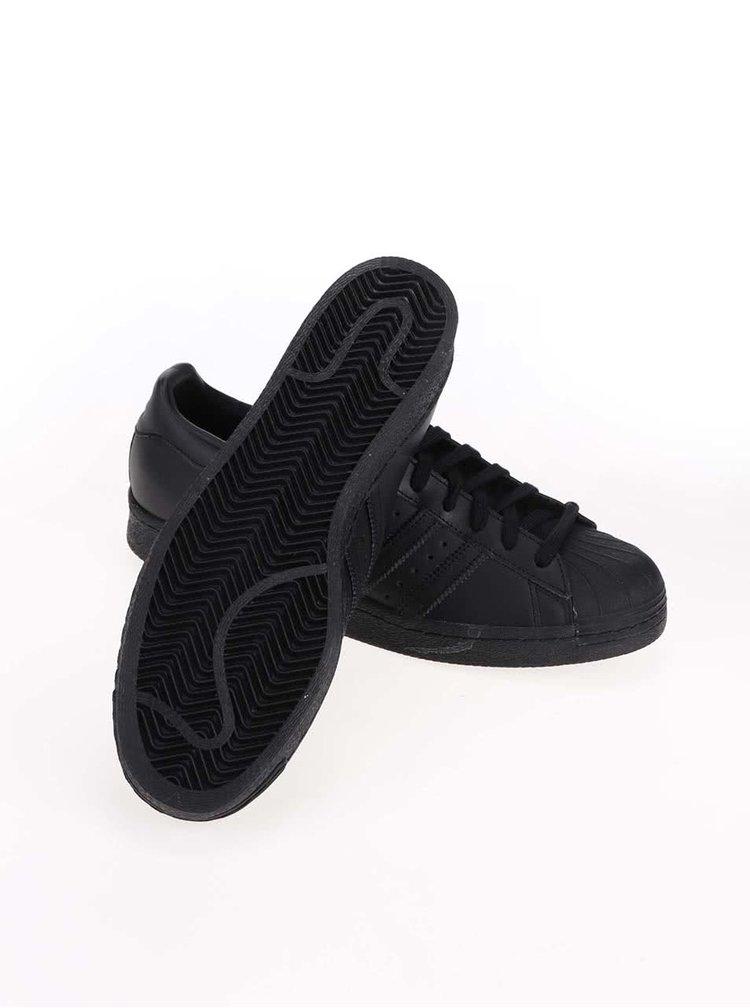 Černé pánské kožené tenisky adidas Originals Superstar '80s