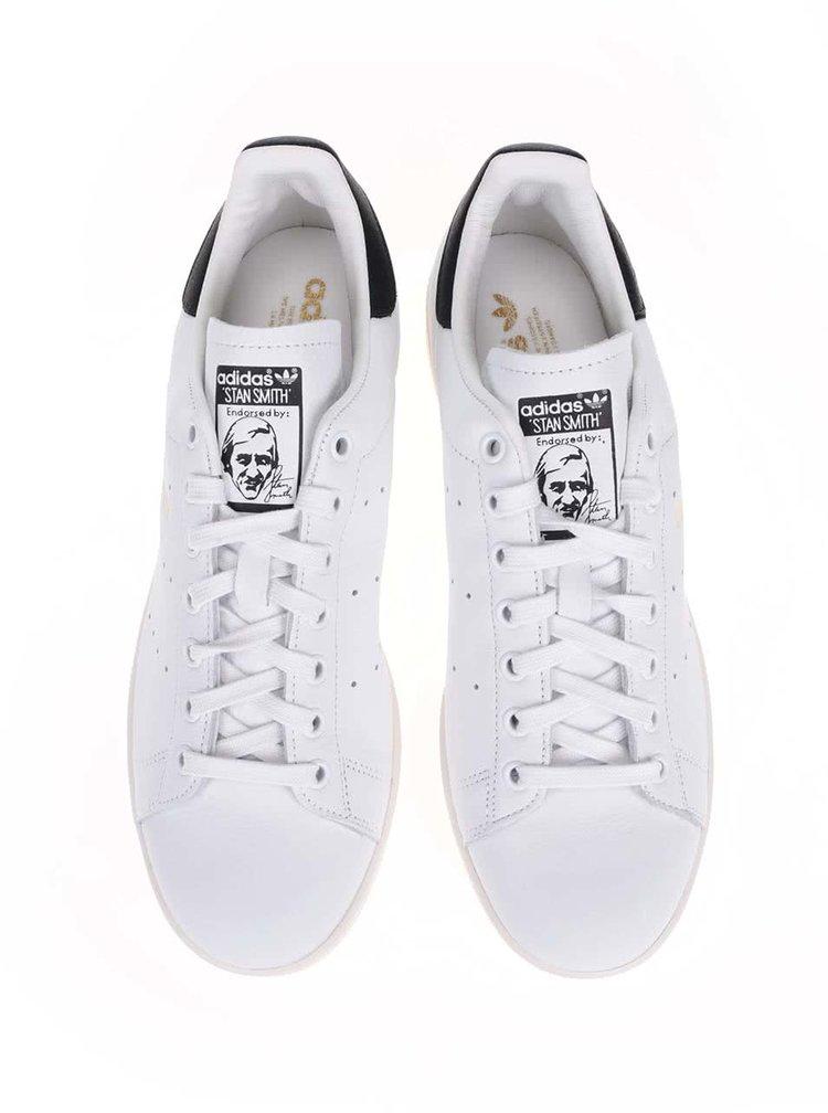 Černo-bílé pánské kožené tenisky adidas Originals Stan Smith